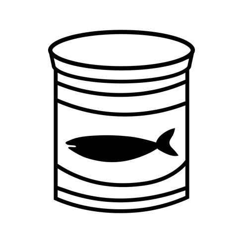 line kan tonfiskmåltid med hälsosam kost