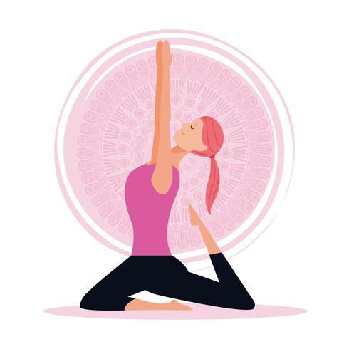 donna nello yoga pone