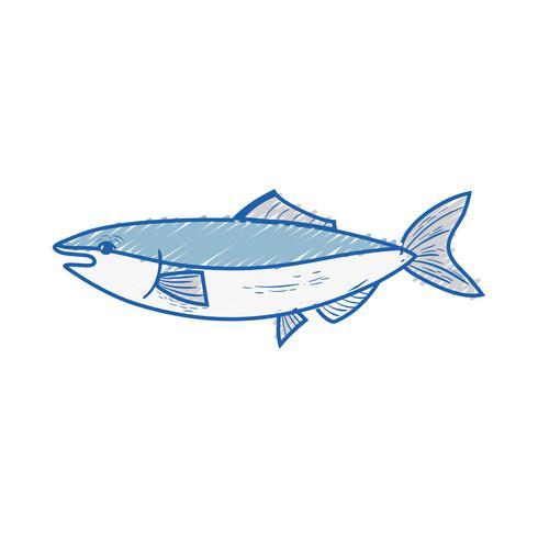 poisson de fruits de mer délicieux avec une nutrition naturelle