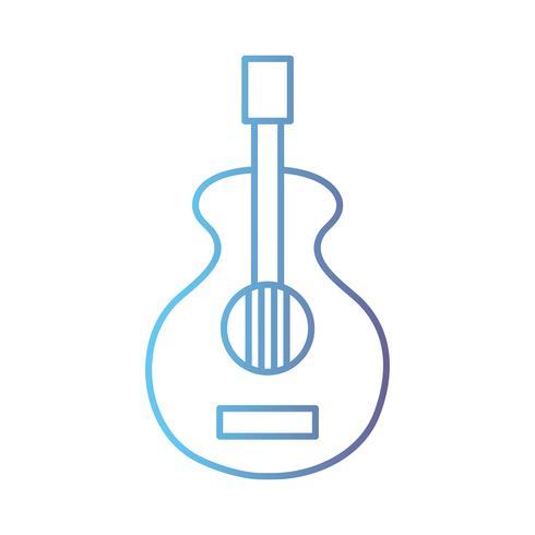 Linie Gitarrenmusikinstrument zur Melodieharmonie vektor