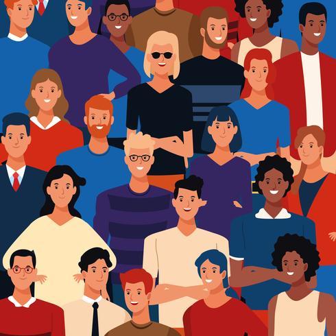 Dibujos animados de los jóvenes
