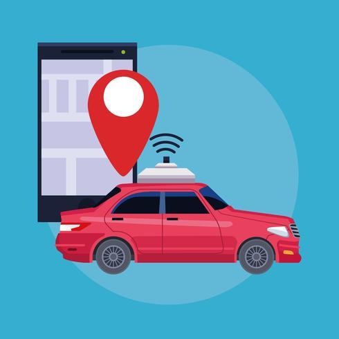 concetto di servizio auto posizione GPS