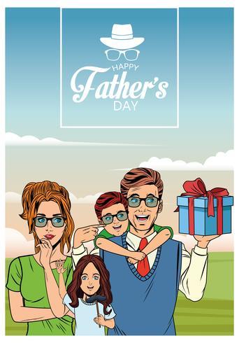 Cartão de dia dos pais feliz vetor