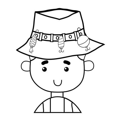 linjefiskare med hattdesign och rolig sport