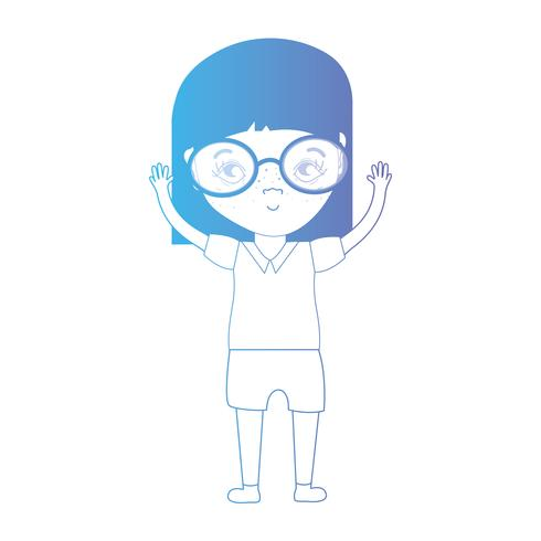 linea avatar ragazza con acconciatura e vestiti