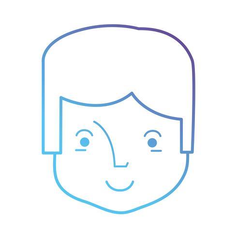 line avatar man huvud med frisyr vektor
