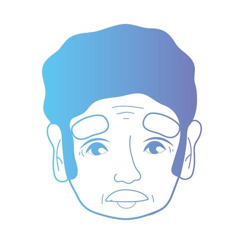 line avatar man huvud med frisyr