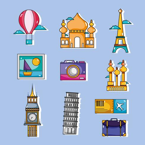 set travel vacation countries to visity