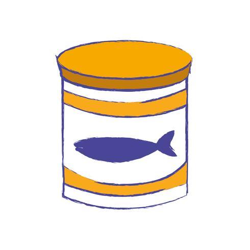 Puede comida de atún con nutrición saludable.