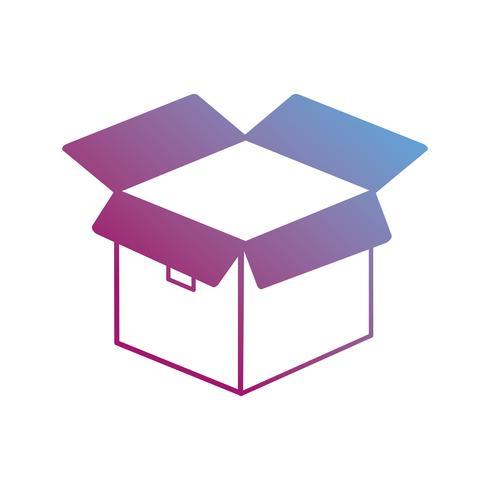 scatola di contorno confezione prodotto design aperto