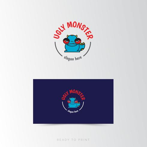 Logo Corporate Ugly Monster Simple Design