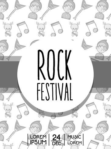 festival de rock evento concierto de musica
