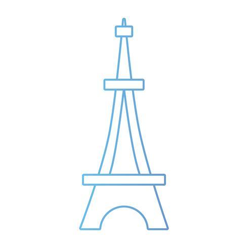 linha beleza torre eiffel arquitetura construção vetor