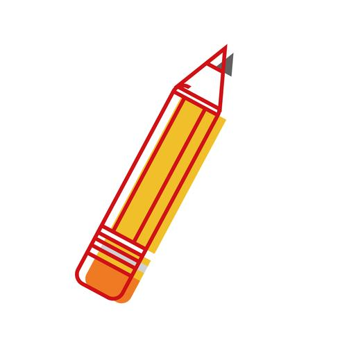 lápiz escuela herramienta objeto diseño