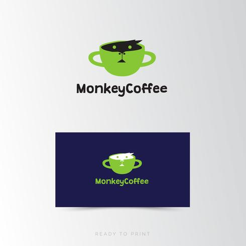 Logo Corporate Monkey Coffee übersichtliches Design