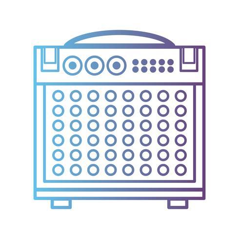Línea de consola de audio electrónica para reproducir música intérprete.