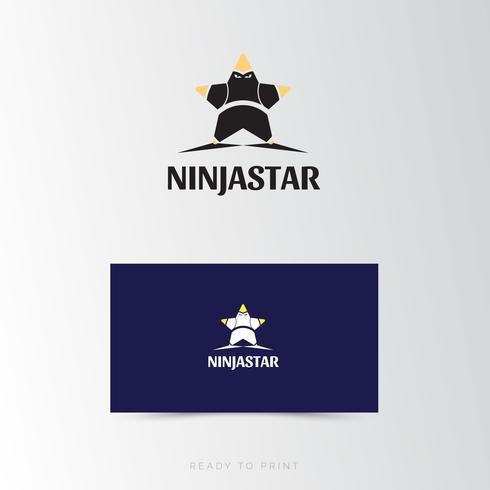 Logo Corporate Ninja Star Design semplice