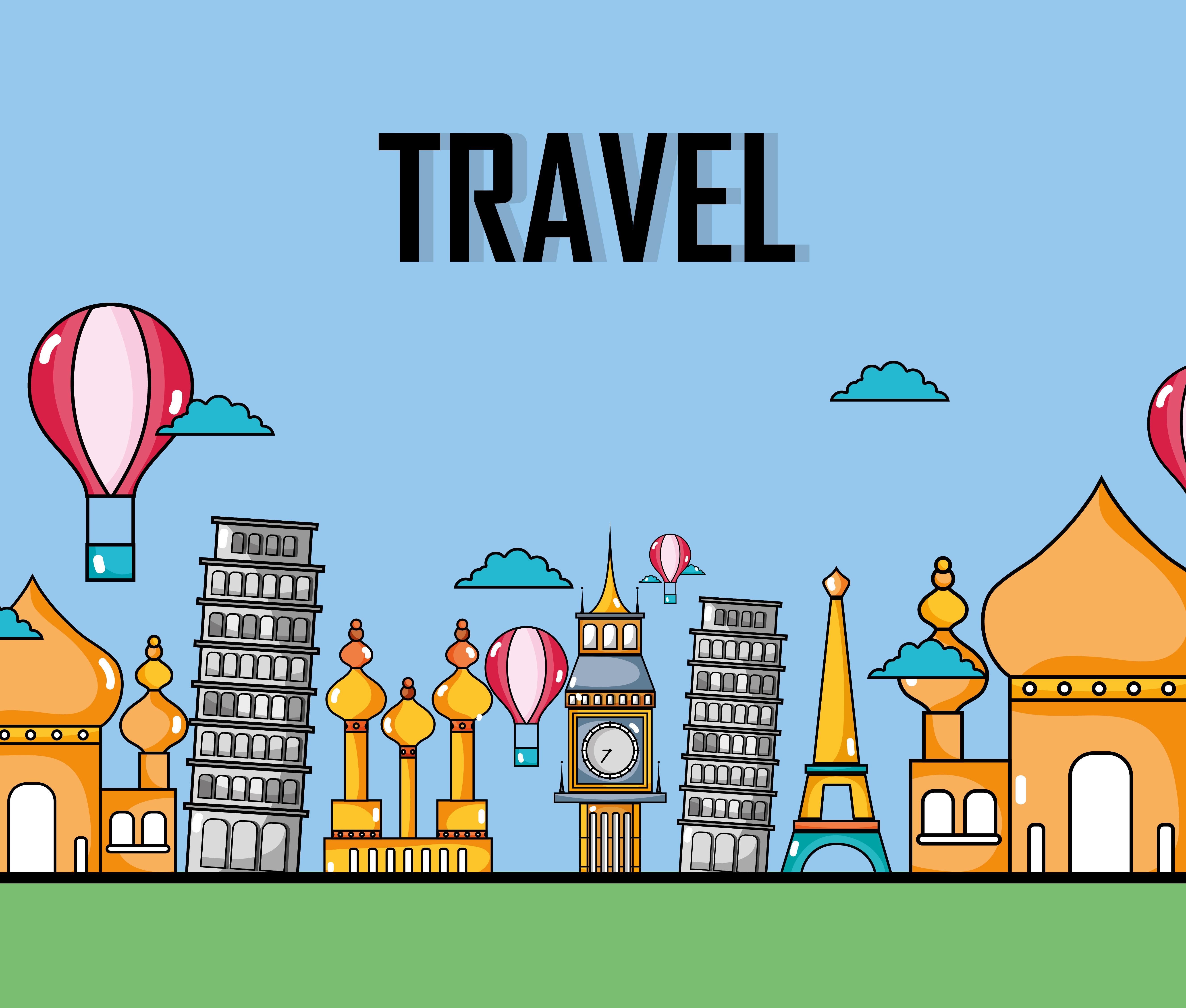 旅遊卡通 免費下載 | 天天瘋後製