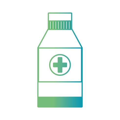 line alcohol bottle medical treatment to desinfection