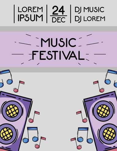 rock festival event music concert vector