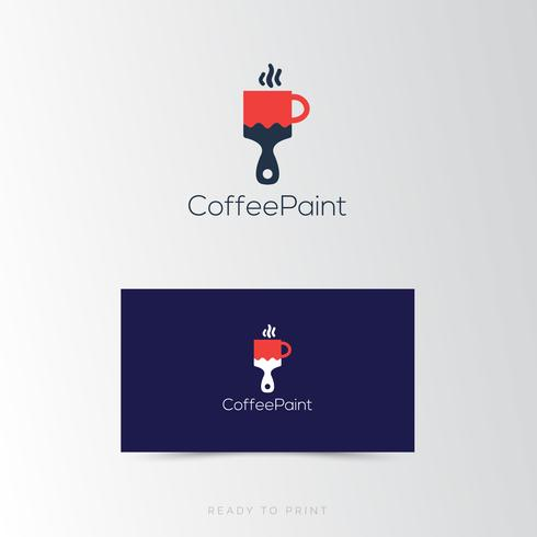 Logo Corporate Coffee paint simple Design