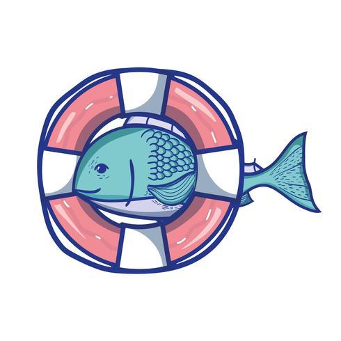 Fisch mit Leben Boje Objektdesign