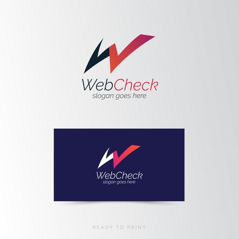 Logo Företags webbkontroll enkel design