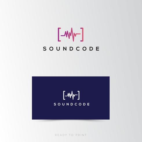 Logotyp företags ljudkod enkel design