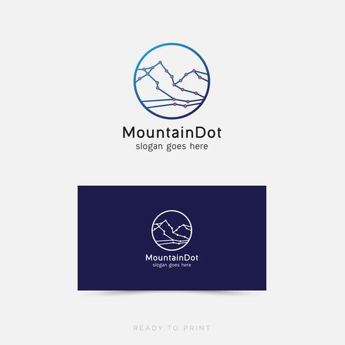 Logo Corporativo MountainDot Diseño Simple