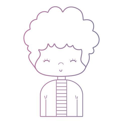 ligne mignonne homme avec une coiffure et une chemise