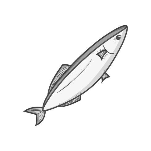 poisson de fruits de mer délicieux en niveaux de gris avec une nutrition naturelle