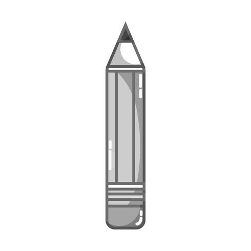 disegno in scala di grigi matita strumento scuola oggetto