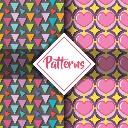 design de fundo gráfico moderno geométrico de padrões