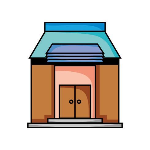 istruzione scolastica con design di tetti e porte