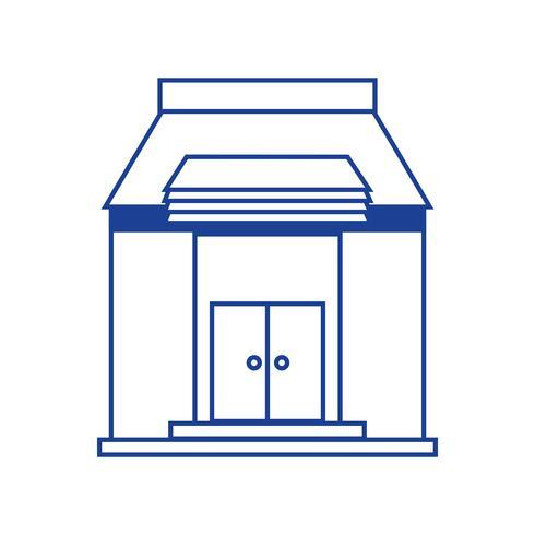 silhouette istruzione scolastica con tetto e porte design
