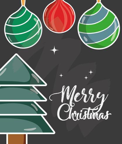 Feliz Natal decoração design para celebração
