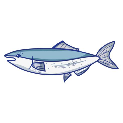 delizioso pesce di mare con alimentazione naturale