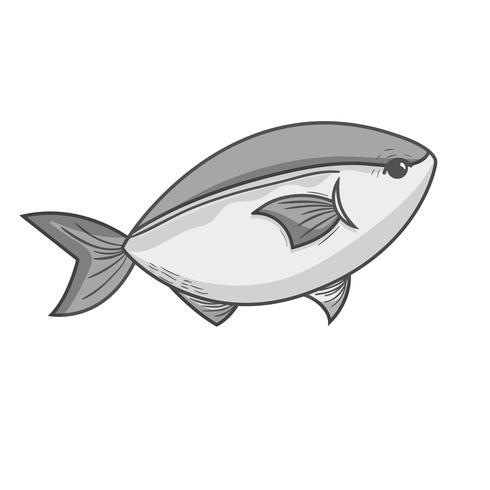 grijswaarden heerlijke zeevruchtenvis met natuurlijke voeding