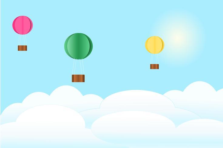 Ballon am Himmel