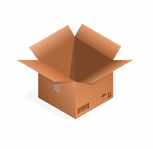 Scatola del pacchetto marrone
