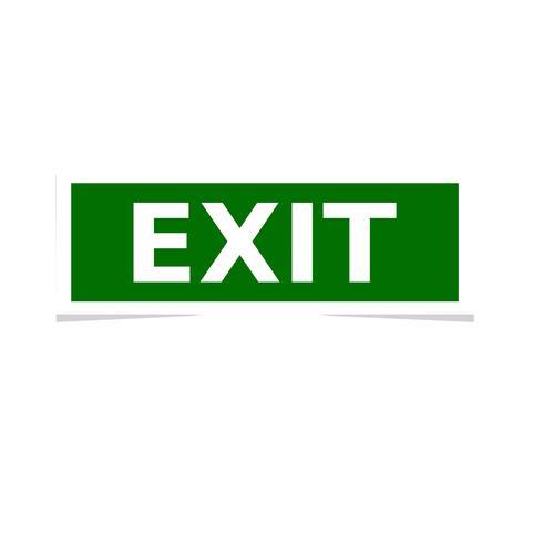 klistermärke exit vektor