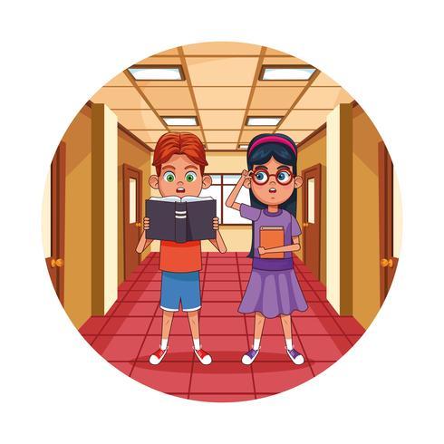 Libro de lectura para niños en el aula
