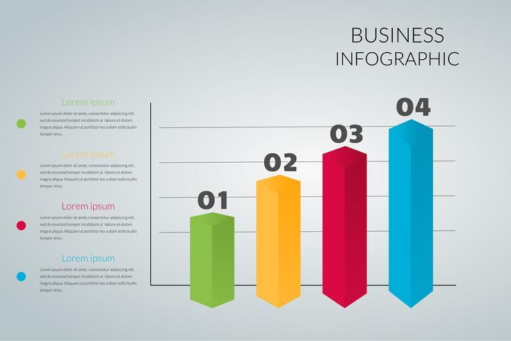 affärsgraf Infographics Vector