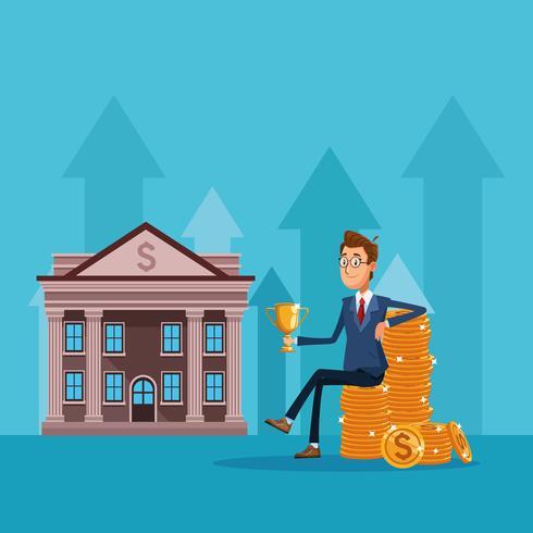 Dibujos animados de empresario banquero
