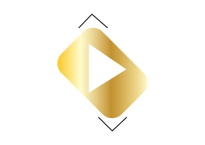 Logo multimediale freccia d'oro