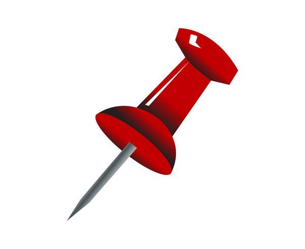Vecteur de punaise rouge