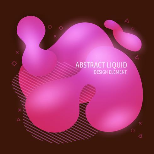 Abstrakta moderna flytande flytande formelement. Dynamisk ljus lutning färgad banner