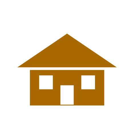 Icono de la casa marron
