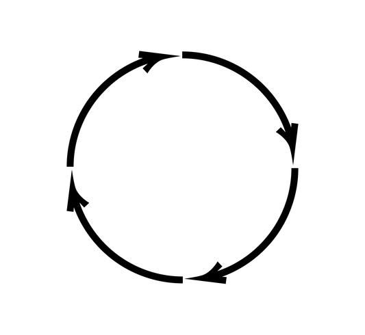 Recycling circle icon