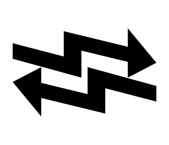Flecha negra izquierda y derecha